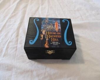 House On Haunted Hill Blue & Black Keepsake Stash Box