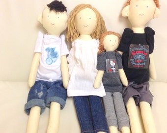 Personalized family, Handmade custom family doll, Father, mother, child, daughter, son, Unique doll, Character dolls, made by photo