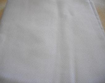 Vintage White Cotton Blend Fabric