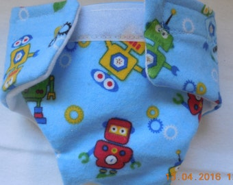 Ready to ship SIZE #2 Doll Diaper robot cloth adjusts washable velcro fit bitty baby some baby alive baby all gone and more stuffed animals