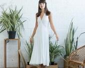 Summer SALE White Bias Dress, Casual wedding dress