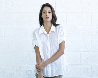 Summer Sale SALE! Button Down Shirt, White.