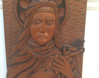 Virgin Mary Hand made wall Art
