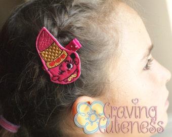 Shopkins Inspired Hair Clip, Bookmark, Planner Accessory, Badge Reel - Meet Miss Lippy Lips