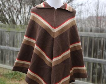 Vintage Winkelman's Women's Poncho Cape Size Medium