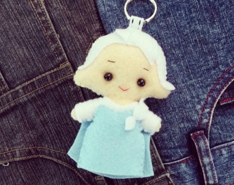 Elsa Frozen Felt keychain