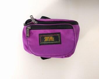 90s Fanny Pack. Fluorescent Purple Nylon Fanny Pack. Unisex.