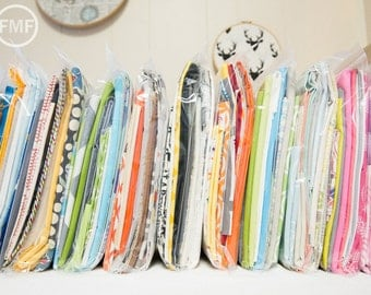 Fabric Scrap Pack, 4-Plus Yards of Designer Prints and Coordinating Solids in Each Pack