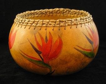 Bird of Paradise Gourd Bowl