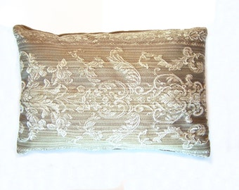 """Pillows Throw Sofa Couch Pillows Taupe Ivory Cream 16"""" x 12"""""""
