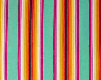 Fabric by the Yard - Chipper - Tick Tock Stripe in Sorbet by Tula Pink
