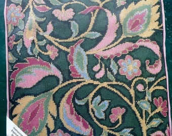 20%OFF Rare Michael A. Leclair Jacobean KINGSTIN Pillow By Elsa Williams Jca Needlepoint Tapestry Cushion Pattern Chart Kit - Out Of Print