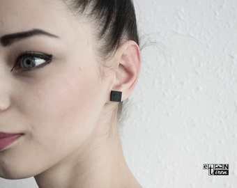 Black Stud Earrings Square Studs Minimanlist Jewelry Classic Casual jewelry valentines day mother gift geometric earrings