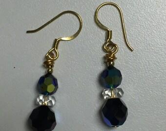 Iridescent Glass Bead Earrings