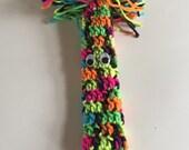 Crocheted Cob Web Cleaner - Broom Handle Cozy- household - handmade