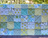 Patchwork Rag Quilt, Picnic Throw, Lap Quilt, Custom Quilt, YOU CHOOSE SIZE twin full queen king bedding