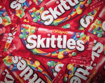 Skittles Candy Realistic Colors Cotton Fabric Fat Quarter or Custom Listing