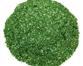 Moss Green SOLVENT RESISTANT Glitter 0.015 Hex - 1 Fl. Ounce for Glitter Nail Art, Glitter Nail Polish & Glitter Crafts