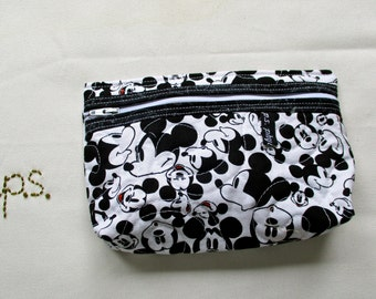 Small Quilted Mickey Mouse Pouch