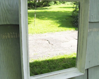 Small Rustic Refinished Mirror