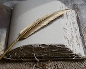 Personalized book, Wedding set Gold feather pen Gold Black book vintage style, Halloween Wedding, Gothic Wedding, Rustic wedding, Custom