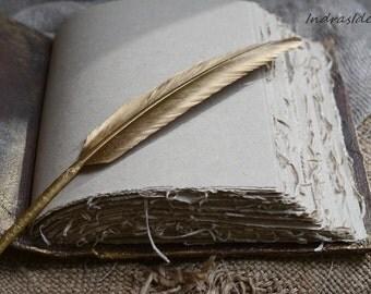 Personalized book, Wedding set Gold feather pen Gold Black book vintage style, Halloween Wedding, Gothic Wedding, Rustic wedding, Custom