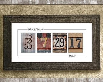 PERSONALIZED WEDDING GIFT for Couples - Wedding Date Print, Home Decor, Wall Hanging