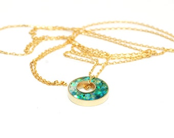 Glitter Box collection Long Layering Necklace - Mermaid