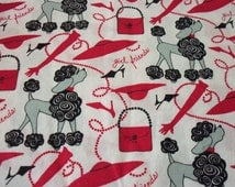 Red Hat Ladies Fabric Girl Friends By Patty Reed 2005 Release Poodles By The Fat Quarter BTFQ