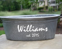 Personalized Oval Wine Tub