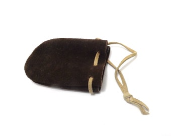 Suede medicine bag, pouch, marble bag, spell bag