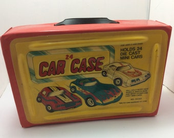 Car Case, holds 24 die cast cars, mini cars, hot wheels, match box, made in USA Ny