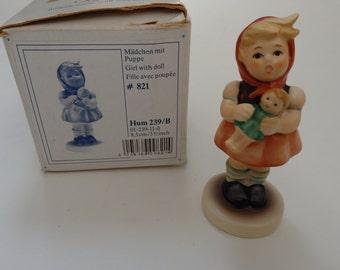 "Vintage W Germany Goebel  Hummel Figurine "" GirL with Doll """