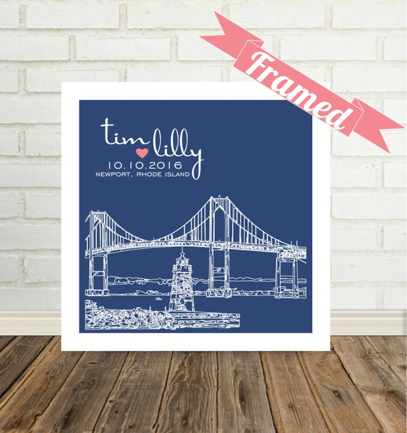 Wedding Gifts Personalized Skyline FRAMED ART Unique Wedding Gift Any City Available Modern Wedding Gift Engagement Gift Valentine Gift
