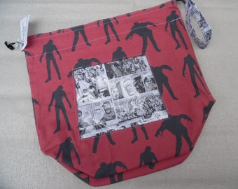 Large Reversible WIP bag, Walking Dead with window