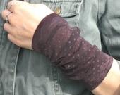 Wrist Cuff, Wide Wrist Cuff, Tattoo Cover up, Brown Wrist Cuff, Wrist Warmer