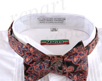 New Micro Fiber Men's Paisley Self-Tie Bow tie & hankie, Formal Occasions (569P)