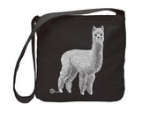 Organic Cotton Alpaca Cross Body Bag, Famers Market Tote Bag