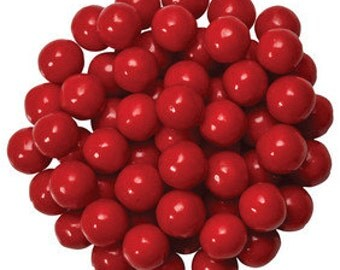 Red Pearls Edible Sugar Decorations Dragees Cupcake Cake Cookies Balls Toppers ( 2 Ounces)
