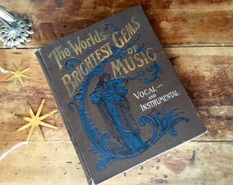 Victorian Large Hardcover Music Book Parlor Book