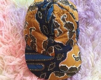 Beaded Quilt Exotic Hat Cap Natco