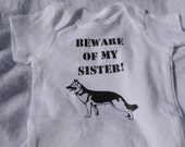 Beware of my Sister or Brother Doggie Love Doggie Sibling outfit