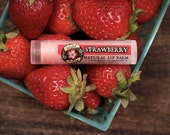 Lip Balm Natural STRAWBERRY Natural with Organic Strawberry and Rosehip - .15 oz Spring