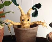Mandrake Toddler Amigurumi - MADE to ORDER - Herbology, Mandragora