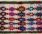 FREE SHIPPING WORLDWIDE T24188 vintage boucherouite rug, moroccan rugs , rag rug, berber tribal art, morocco carpets, wall art