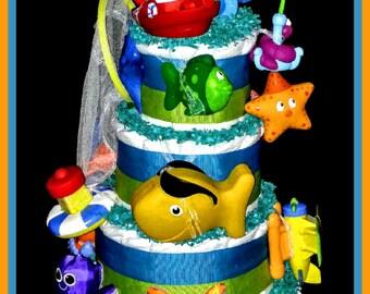Nautical Sea Life Diaper Cake