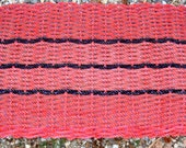 HANDMADE RED MAT Of Recycled Lobster Float Rope
