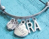 personalized sister bracelet, gift for sister, personalized bracelet, sister jewelry, birthday gift sister, friendship jewelry best friend