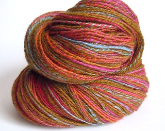 Onion Rainbow Hand Dyed Handspun Sock Yarn 110g