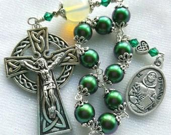 Lovely Saint Dymphna Relic - Saint Dymphna Depression Rosary - Emotional & Anxiety Prayer Rosary